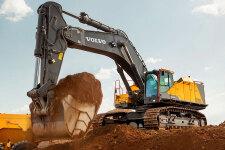 沃尔沃EC950E履带挖掘机施工现场全部图片
