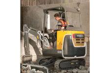 沃尔沃EC18D履带挖掘机施工现场全部图片
