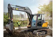 沃尔沃EC75D履带挖掘机施工现场全部图片