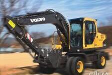 沃尔沃EW145B Prime轮式挖掘机施工现场8227