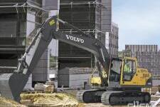 沃尔沃EC200B Prime履带式挖掘机施工现场全部图片