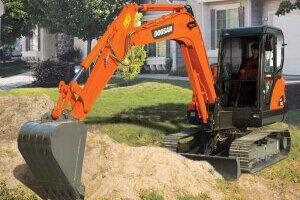 斗山DX60履带挖掘机图片集