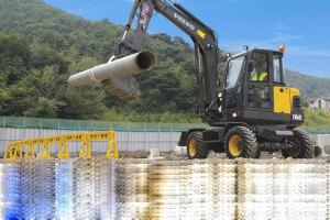 沃尔沃EW60C轮式挖掘机图片集