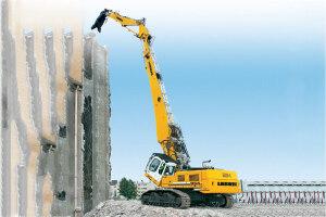 利勃海尔R 954 C拆毁履带挖掘机图片集
