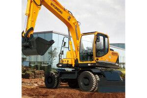 现代R150W-9轮式挖掘机图片集