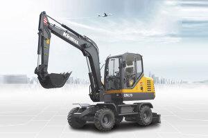 勤牛QNL70轮式挖掘机图片集