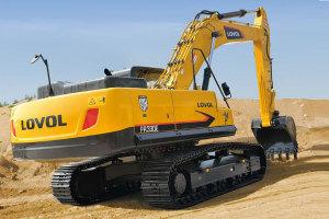 雷沃FR370E履带挖掘机图片集