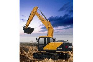 现代R215 VS履带挖掘机图片集