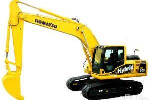 小松HB205-1混合动力挖掘机图片集