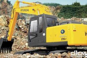 现代R215-7履带挖掘机图片集