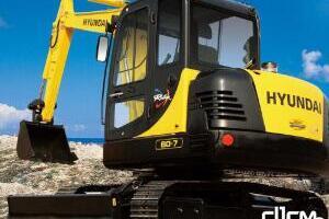 现代R60-7履带挖掘机图片集