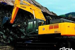 现代R505LC-7履带挖掘机图片集