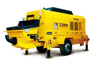 厦工HBT90S-1618D混凝土拖泵图片集