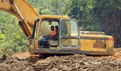 临工挖机非洲施工
