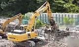 PC350 挖机拆楼视频