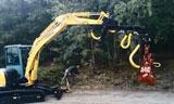 洋马ViO57割树机在伐木