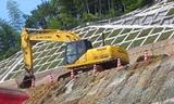 住友建机SH200挖掘机施工现场