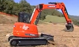 ES900UR拐弯臂挖掘机在土方作业