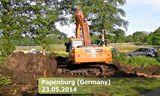斗山DX 225LC型挖掘机施工视频