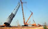 世界最大能级 徐工4000吨履带起重机成功启用
