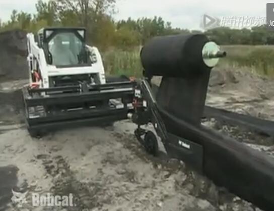 山猫滑移装载机万能属具之围栏布设器