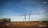 利勃海尔缩时摄影-架设挖掘机塔式起重机