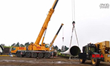 利勃海尔LTM11200-9.1起重机吊装风力发电机欣赏