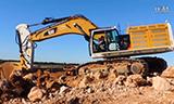 卡特374F挖掘机装车