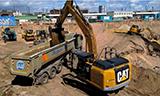 卡特324E挖掘机工作