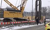 利渤海尔HS855履带式起重机地下连续墙施工