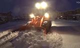 日本停车场装载机除雪