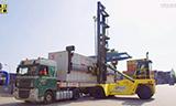 Hyster空箱堆高机工作
