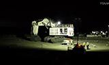 利勃海尔R996矿山挖掘机组装投入使用