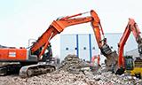日立ZAXIS 350LC挖掘机工作