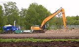 凯斯CX300C长臂挖掘机工作