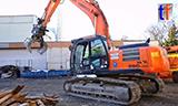 日立290 LCN挖掘机拆迁视频