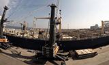 利渤海尔LH550移动式港口起重机吊装船载起重机
