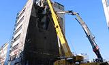 日立KMC520 BTV长臂挖掘机拆楼