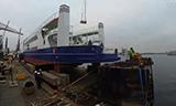 达蒙造船在荷兰阿姆斯特丹港口装运