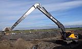沃尔沃EC300E长臂挖掘机工作