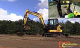 杰西博100C-1小型挖掘机工作