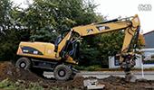 卡特M318D轮式挖掘机工作