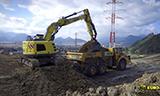 利渤海尔R926小型挖掘机工作