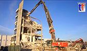 日立KMC520-5长臂挖掘机拆楼