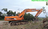 斗山340LCV挖掘机装车视频