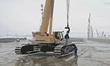利渤海尔LTR 1220履带式伸缩臂起重机组装