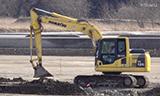 小松PC120挖掘机工作