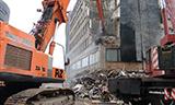 日立Zaxis470长臂挖掘机拆楼