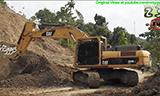 卡特彼勒336D LME挖掘机工作