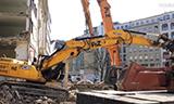 杰西博370挖掘机拆楼